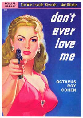 Don't Ever Love Me - 11 x 17 Retro Book Cover Poster