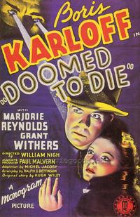Doomed to Die - 43 x 62 Movie Poster - Bus Shelter Style A