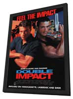 Double Impact - 11 x 17 Movie Poster - Style B - in Deluxe Wood Frame