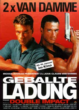 Double Impact - 11 x 17 Movie Poster - German Style A