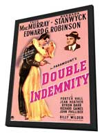 Double Indemnity - 11 x 17 Movie Poster - Style A - in Deluxe Wood Frame