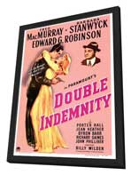 Double Indemnity - 27 x 40 Movie Poster - Style A - in Deluxe Wood Frame