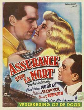 Double Indemnity - 11 x 17 Movie Poster - Belgian Style B