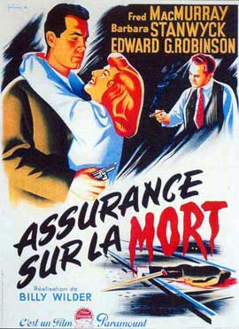 Double Indemnity - 11 x 17 Movie Poster - French Style A