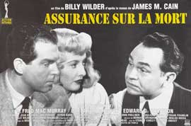 Double Indemnity - 27 x 40 Movie Poster - French Style B