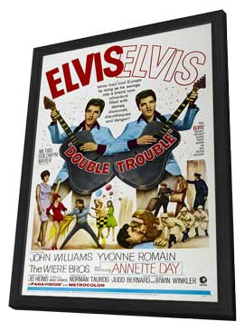 Double Trouble - 11 x 17 Movie Poster - Style B - in Deluxe Wood Frame
