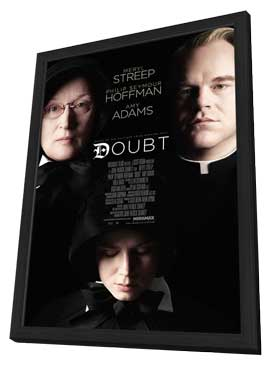 Doubt - 11 x 17 Movie Poster - Style B - in Deluxe Wood Frame
