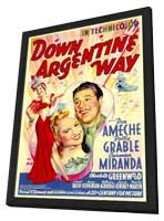 Down Argentine Way - 11 x 17 Movie Poster - Style A - in Deluxe Wood Frame