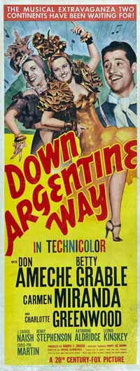 Down Argentine Way - 14 x 36 Movie Poster - Insert Style A