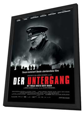 Downfall - 27 x 40 Movie Poster - Danish Style A - in Deluxe Wood Frame