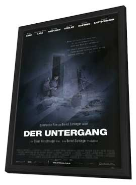 Downfall - 11 x 17 Movie Poster - German Style A - in Deluxe Wood Frame
