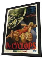 Dr. Cyclops - 11 x 17 Movie Poster - Italian Style A - in Deluxe Wood Frame