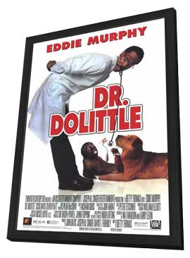 Dr. Dolittle - 11 x 17 Movie Poster - Style A - in Deluxe Wood Frame