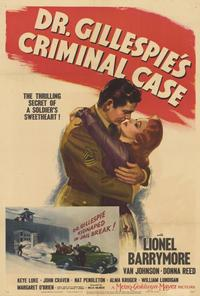 Dr. Gillespie's Criminal Case - 27 x 40 Movie Poster - Style A