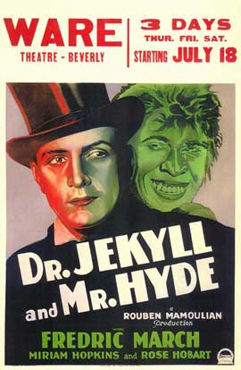 Dr. Jekyll and Mr. Hyde - 11 x 17 Movie Poster - Style B