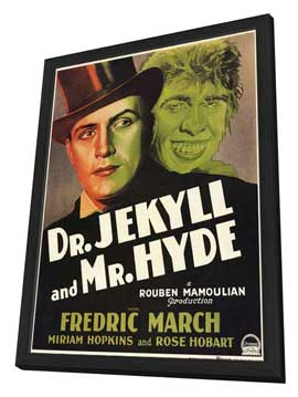 Dr. Jekyll and Mr. Hyde - 11 x 17 Movie Poster - Style D - in Deluxe Wood Frame