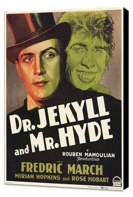 Dr. Jekyll and Mr. Hyde - 11 x 17 Movie Poster - Style D - Museum Wrapped Canvas