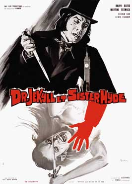 Dr. Jekyll and Sister Hyde - 11 x 17 Movie Poster - French Style A