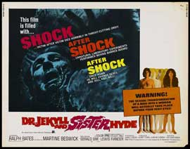 Dr. Jekyll and Sister Hyde - 22 x 28 Movie Poster - Half Sheet Style B
