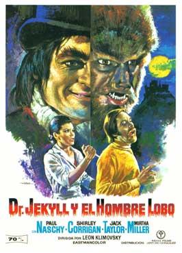 Dr. Jekyll y el Hombre Lobo - 11 x 17 Movie Poster - Spanish Style A