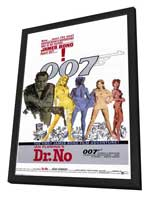 Dr. No - 11 x 17 Movie Poster - Style A - in Deluxe Wood Frame
