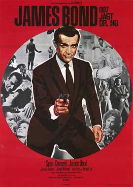 Dr. No - 11 x 17 Movie Poster - German Style B