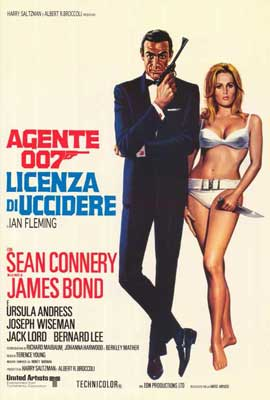 Dr. No - 27 x 40 Movie Poster - Italian Style A