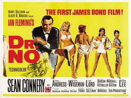 Dr. No - 30 x 40 Movie Poster UK - Style A