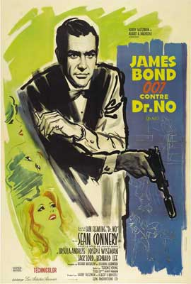 Dr. No - 27 x 40 Movie Poster - French Style A