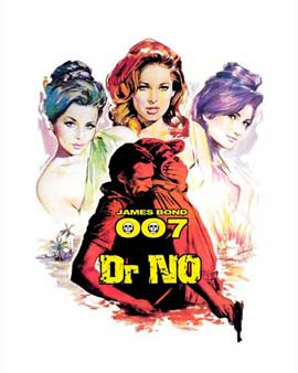 Dr. No - 27 x 40 Movie Poster - Style E