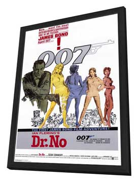 Dr. No - 27 x 40 Movie Poster - Style A - in Deluxe Wood Frame