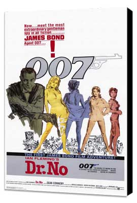 Dr. No - 11 x 17 Movie Poster - Style A - Museum Wrapped Canvas