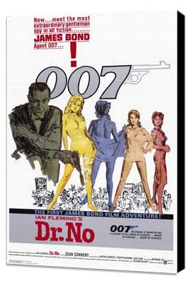 Dr. No - 27 x 40 Movie Poster - Style A - Museum Wrapped Canvas