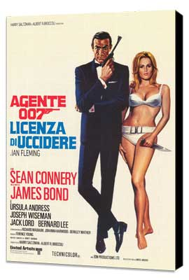 Dr. No - 27 x 40 Movie Poster - Italian Style A - Museum Wrapped Canvas