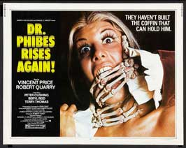 Dr. Phibes Rises Again - 22 x 28 Movie Poster - Half Sheet Style A