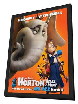 Dr. Seuss' Horton Hears a Who! - 27 x 40 Movie Poster - Style A - in Deluxe Wood Frame