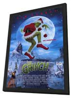 Dr. Seuss' How the Grinch Stole Christmas - 11 x 17 Movie Poster - Style C - in Deluxe Wood Frame