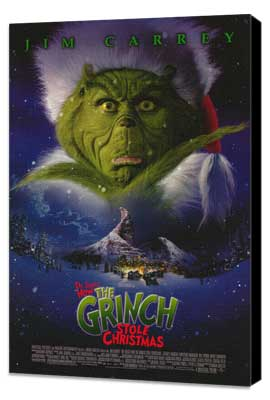 Dr. Seuss' How the Grinch Stole Christmas - 27 x 40 Movie Poster - Style B - Museum Wrapped Canvas