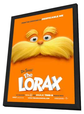 Dr. Seuss' The Lorax - 11 x 17 Movie Poster - Style A - in Deluxe Wood Frame