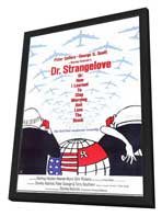 Dr. Strangelove, or: How I Learned to Stop Worrying and Love the Bomb - 11 x 17 Movie Poster - Style A - in Deluxe Wood Frame