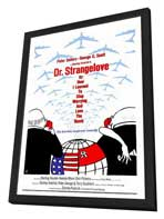 Dr. Strangelove, or: How I Learned to Stop Worrying and Love the Bomb - 27 x 40 Movie Poster - Style A - in Deluxe Wood Frame
