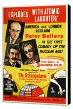 Dr. Strangelove, or: How I Learned to Stop Worrying and Love the Bomb - 27 x 40 Movie Poster - Australian Style B - Museum Wrapped Canvas