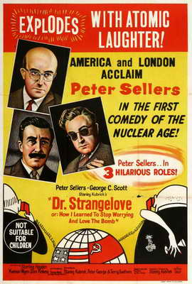 Dr. Strangelove, or: How I Learned to Stop Worrying and Love the Bomb - 27 x 40 Movie Poster - Australian Style B
