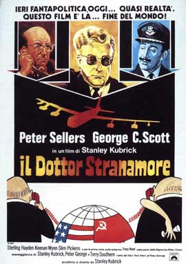Dr. Strangelove, or: How I Learned to Stop Worrying and Love the Bomb - 11 x 17 Movie Poster - Italian Style B