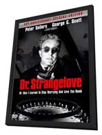 Dr. Strangelove or: How I Learned to Stop Worrying and Love the Bomb - 27 x 40 Movie Poster - Style C - in Deluxe Wood Frame