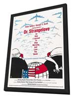 Dr. Strangelove or: How I Learned to Stop Worrying and Love the Bomb - 27 x 40 Movie Poster - Style D - in Deluxe Wood Frame
