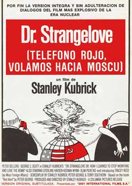 Dr. Strangelove or: How I Learned to Stop Worrying and Love the Bomb - 27 x 40 Movie Poster - Spanish Style A
