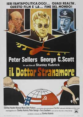 Dr. Strangelove or: How I Learned to Stop Worrying and Love the Bomb - 11 x 17 Movie Poster - Italian Style A