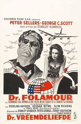 Dr. Strangelove or: How I Learned to Stop Worrying and Love the Bomb - 11 x 17 Movie Poster - Belgian Style A