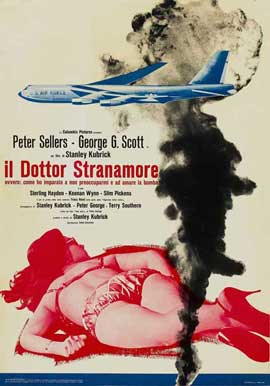 Dr. Strangelove or: How I Learned to Stop Worrying and Love the Bomb - 11 x 17 Movie Poster - Style F